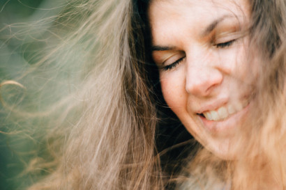 Creatieve en spontane portretfotoshoot