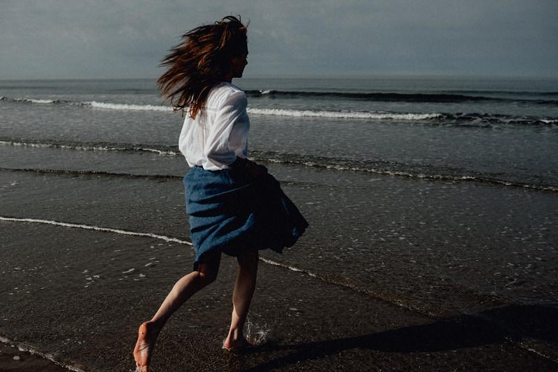 Fotoshoot aan zee